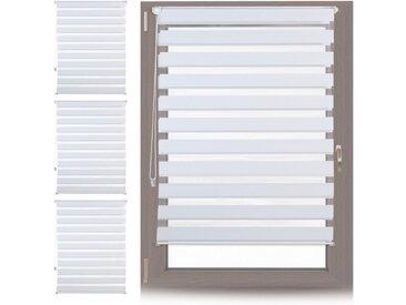 relaxdays Doppelrollo »4 x Doppelrollo Klemmfix Weiß 110x150 cm«