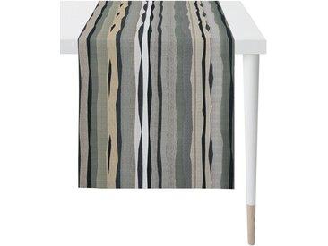 APELT Tischläufer »Caspar, LOFT STYLE, Gobelin« (1-tlg), grau, grau-schwarz-weiß-beige-anthrazit