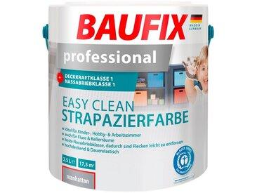 Baufix BAUFIX Wand- und Deckenfarbe »professional Easy Clean«, Strapazierfarbe grau, 2,5 L, grau, 2.5 l, manhattan