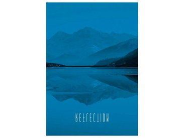 Komar KOMAR XXL Poster »Word Lake Reflection Blue«, bunt, 50 cm x 70 cm, bunt