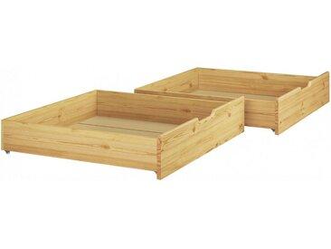 ERST-HOLZ Unterbettkommode, 90.10-S12 - Zweiteiliger Bettkasten Kieferfür Betten 80x190 cm