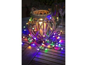 KONSTSMIDE LED Globelichterkette mit Multifunktion, schwarz, Lichtquelle bunt, Schwarz