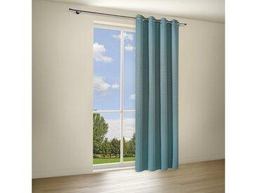 Gerster Vorhang »BEVERLY Elegante Vorhänge mit Ösen, Ösenschal verdunkelnd 140/235 cm«, Ösen (1 Stück), blau, Petrol