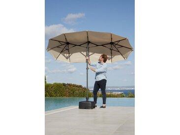 garten gut Sonnenschirm »Malaga«, LxB: 290x150 cm, Inkl. Schutzhülle, ohne Schirmständer, natur, natur