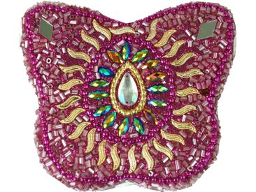 Guru-Shop Aufbewahrungsdose »Indisches Schmuckdöschen, Perlendöschen,..«, pink-mehrfarbig