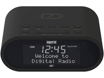 IMPERIAL by TELESTAR kompakte DAB+ und UKW-Radiowecker, Matrix-Display »DABMAN d20«, schwarz, schwarz