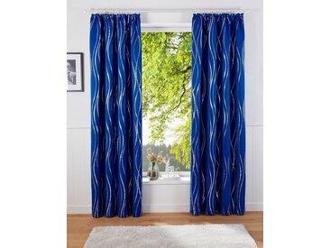 Guido Maria Kretschmer Home&Living Vorhang »Prag«, Kräuselband (1 Stück), democratichome Edition, blau, blau