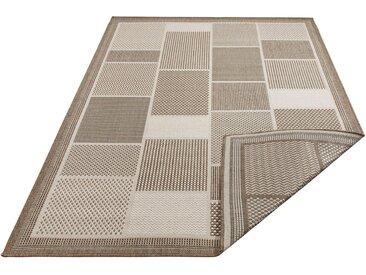 Home affaire Teppich »Tudor«, rechteckig, Höhe 5 mm, Sisaloptik, beiseitig verwendbar, In- und Outdoor geeignet, grau, beige