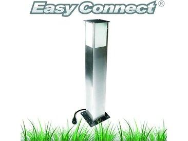 SPOT Light Gartenleuchte »Easy Connect«, Marke: CALI, EASY CONNECT Viereckige Sockelleuchte, LED 5W, Eedelstahl, Höhe 70 cm