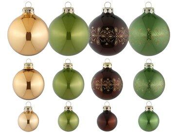 Thüringer Glasdesign Weihnachtsbaumkugel »Royal« (30 Stück), Made in Germany
