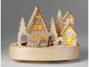 CHRISTMAS GOODS by Inge LED Dekolicht »Dorf«, mit Musik