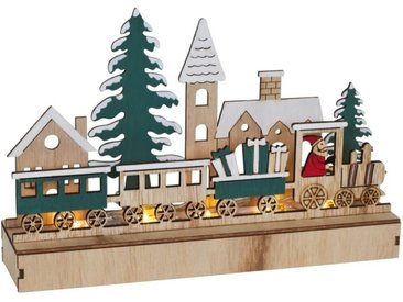 matches21 HOME & HOBBY Adventsleuchter »Weihnachtsleuchter LED Fensterleuchter Zug 22 cm«