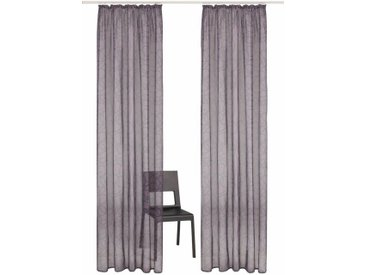 my home Gardine »Tanaro«, Kräuselband (2 Stück), Vorhang, Fertiggardine, transparent, grau, grau
