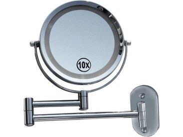 Lüllmann Schminkspiegel »LED Licht Doppel Schminkspiegel 10-fach Make up Spiegel Kosmetikspiegel Beleuchtet« (1-St)