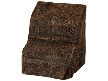 Homestar HOMESTAR Deko-Konsole 12 x 12 cm, für Deckenbalken, Holzimitat, Eiche dunkelbraun, braun, dunkelbraun