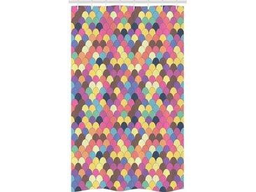 Abakuhaus Duschvorhang »Badezimmer Deko Set aus Stoff mit Haken« Breite 120 cm, Höhe 180 cm, Waage Pastel Retro Funky Gitter
