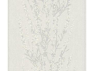 A.S. Création Vliestapete »Blooming floral«, strukturiert, floral, grau, beige-silber-grau