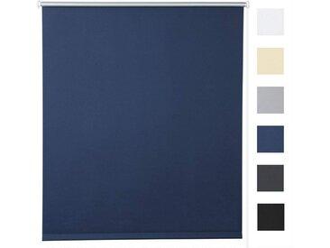 Woltu Verdunklungsrollo, Thermorollo Klemmfix ohne Bohren,Sonnenschutz, blau, blau