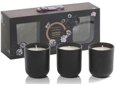 Aroma Naturals by Ritzenhoff Duftkerze »Aroma Naturals Noir 3er Set Rosewood Macaron«