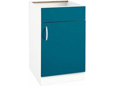 wiho Küchen Spülenschrank »Flexi« Breite 50 cm, blau, Ozeanblau