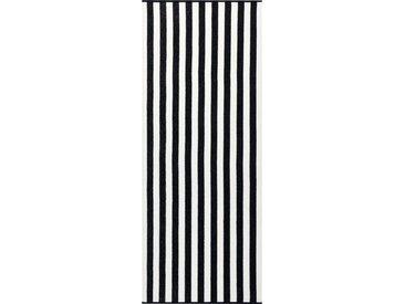 Cawö Saunatuch »Travel, Sport & Spa« (1-St), mit senkrechten Streifen, schwarz, schwarz