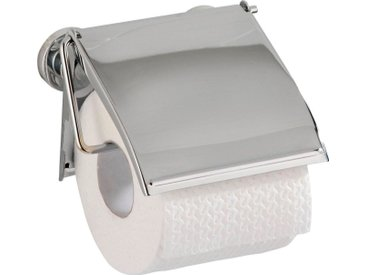 WENKO Toilettenpapierhalter »Cover«, Power-Loc, silberfarben, chrom