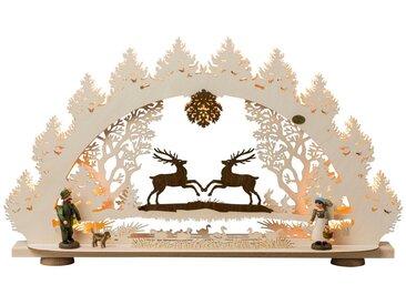 SAICO Original 3D-Lichterbogen Springende Hirsche, 15flammig elektrisch beleuch, natur, Natur