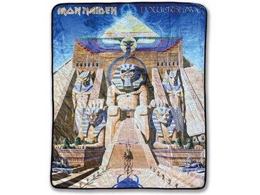 Klangundkleid Bett, »Iron Maiden Powerslave Fleecedecke schwarz 100% Polyester 130 x 160 cm Neu Top«