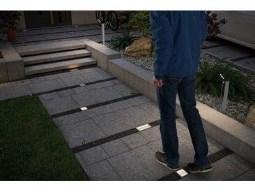 Paulmann LED Solarleuchte »Outdoor Solar Bodeneinbauleuchte Aron IP67 3000K 1,5W, 80lm, Edelstahl mit Bewegungsmelder«