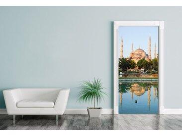Bilderdepot24 Deco-Panel, Türaufkleber Scheich-Zayid-Moschee in Abu Dhabi - Vereinigten Arabischen Emirate