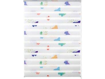 Good Life Doppelrollo nach Maß »Leni«, Lichtschutz, ohne Bohren, freihängend, Rahmenmontage, 1 Stck., Schmetterlinge