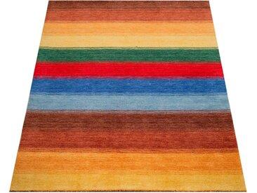 Paco Home Teppich »Gabbeh 303«, rechteckig, Höhe 14 mm, handgefertigter Kurzflor, Gabbeh-Stil