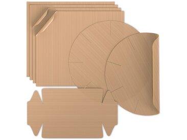 Arendo Dauerbackfolie im 7er Set »Backpapier 4x eckig, 2x Springform, 1x Kastenform«, braun, braun