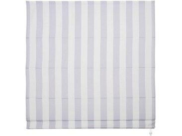 Liedeco Raffrollo, mit Klettband, freihängend, weiß, hellgrau-weiß