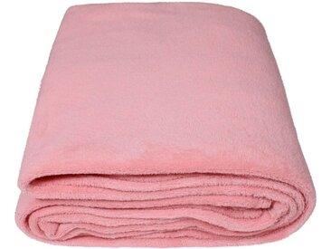 SunDeluxe Wohndecke »Fleecedecke SoftFleece«, rosa, rosa