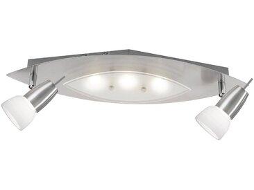 Paul Neuhaus Deckenleuchte »MERAL«, inklusive festverbauten SAMSUNG LED Leuchtmitteln,Gläser teilsatiniert,mit Chromapplikation,nicht dimmbar