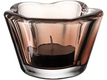 LEONARDO Teelichthalter »Tischlicht CASOLARE Braun 6 cm«
