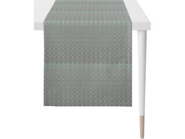 APELT Tischläufer »1308 Loft Style, Jacquard« (1-tlg), Fleckschutz, blau, petrol-grau