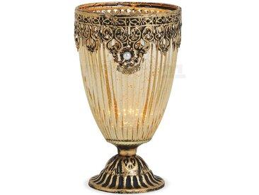 matches21 HOME & HOBBY Kerzenständer »Teelichtglas Kelch Orientalisch Marokko«