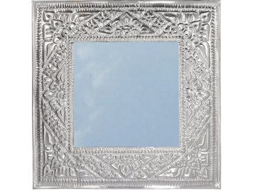 Guru-Shop Dekospiegel »Spiegel mit handgeprägtem Rahmen aus Aluminium..«