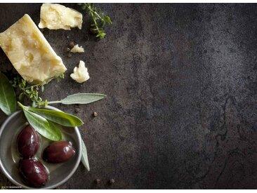 Tischsetmacher Platzset, »Tischsets I Platzsets - Parmesan, Kräuter & Oliven - 12 Stück aus hochwertigem Papier 44 x 32 cm«, (12-St)