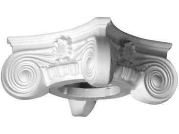 Homestar HOMESTAR Dekorpaneele »Kapitell D1/H«, Länge 130 mm, geschäumt aus EPS, weiß, weiß