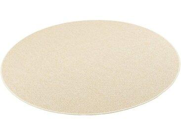 Snapstyle Designteppich »Bentzon Natur Flachgewebe Teppich Rund«, Rund, Höhe 5 mm, beige, Beige