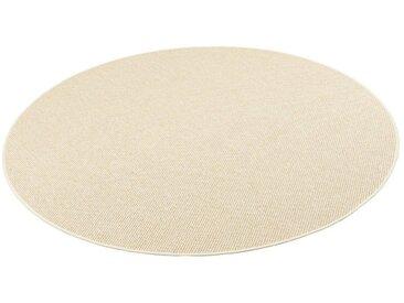 Snapstyle Designteppich »Bentzon Natur Flachgewebe Teppich Rund«, Rund, Höhe 5 mm, natur, Beige