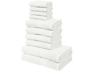 my home Handtuch Set »Ally« (Set, 10-tlg), in dezenten Unifarben, weiß, offwhite