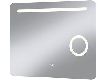 LED-Lichtspiegel »Valencia«, mit integriertem Schminkspiegel, silberfarben, silberfarben