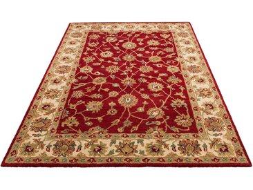 DELAVITA Wollteppich »Sahil«, rechteckig, Höhe 14 mm, Orientteppich, rot, rot