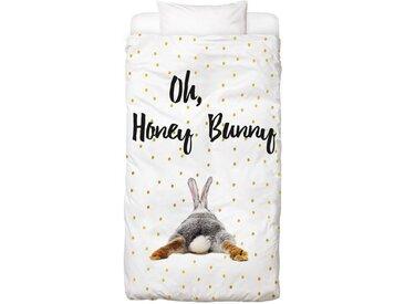 Juniqe Bettwäsche »Honey Bunny«, In vielen weiteren Designs erhältlich, 1 St. x 135 cm x 200 cm