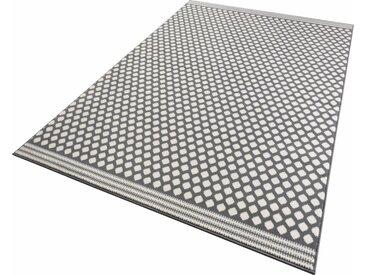 Zala Living Teppich »Spot«, rechteckig, Höhe 9 mm, Kurzflor gekettelt, grau, grau-creme