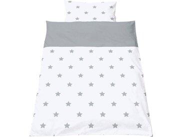 Pinolino® Babybettwäsche »Sternchen«, mit kleinen Sternen, weiß, grau